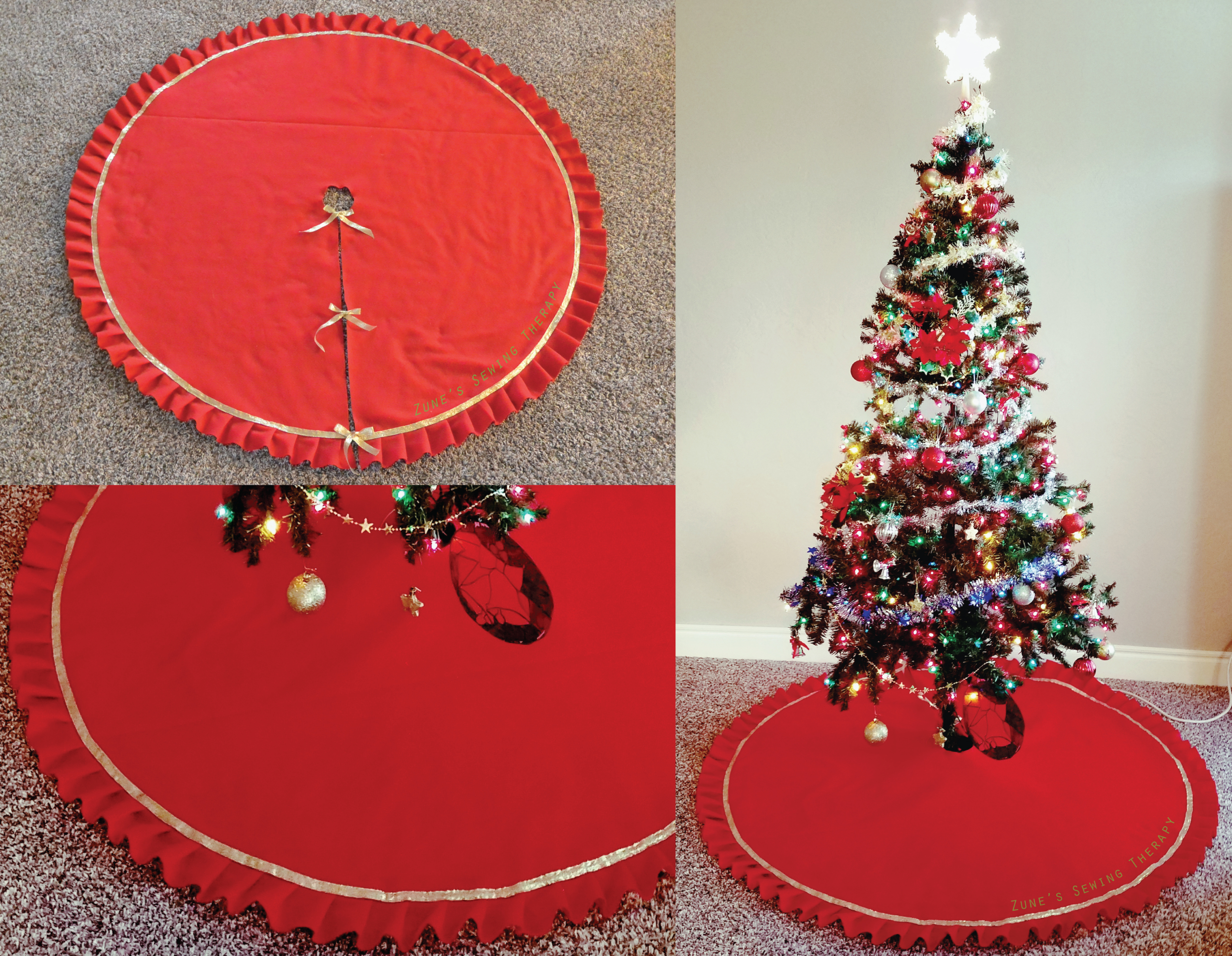 Christmas Tree Skirt – Zune\'s Sewing Therapy